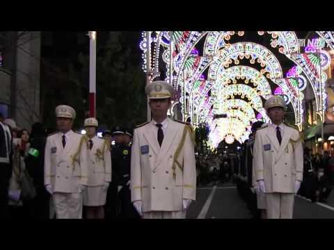 神戸ルミナリエ最終日 厳かに消灯式