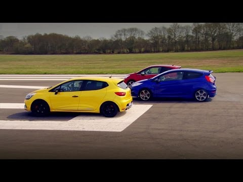 Peugeot 208 GTi vs Renault Clio 200 Vs Ford Fiesta ST - Top Gear - Series 20 - BBC