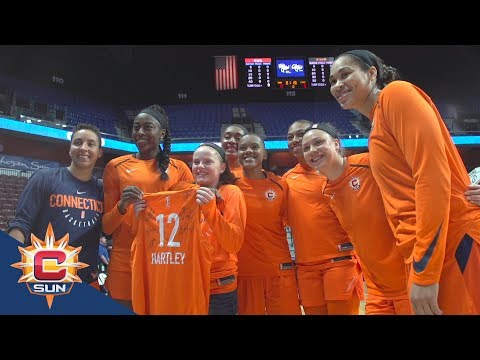 Caroline Hartley's First WNBA Game