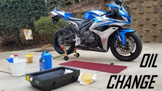 6. DIY: How To Change the Oil on a 2007 Honda CBR 600RR!
