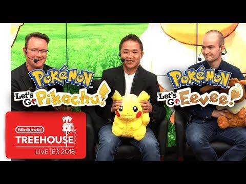 Pokémon: Let's Go, Pikachu! & Pokémon: Let's Go, Eevee! - Nintendo Treehouse: Live   E3 2018