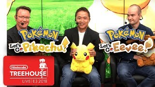 Pokémon Lets Go Pikachu And Pokémon Lets Go Eevee - Nintendo Treehouse Live  E3 2018