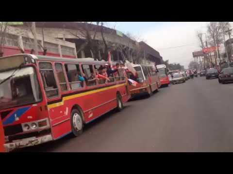 Caravana de Hinchas de Los Andes a Lanús - La Banda Descontrolada - Los Andes