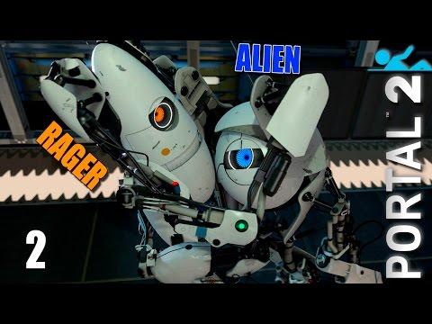 Portal 2 - Прохождение (Co-op) pt2 - Масса и скорость