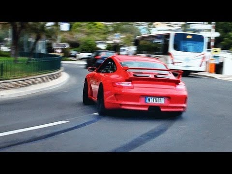 porsche 997 gt3 drifting in montecarlo