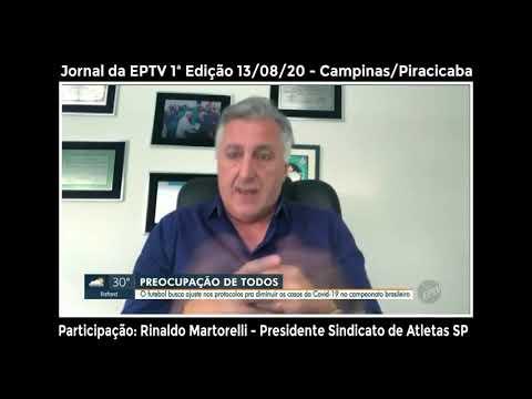 EPTV entrevista presidente do Sindicato de Atletas SP sobre possível paralisação do Brasileirão
