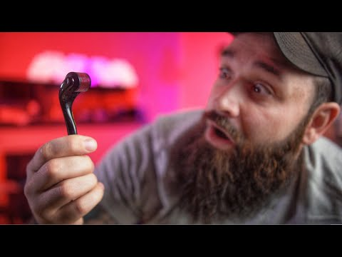 Beard oil - Can this $10 Tool FIX your Patchy Beard???  Derma Roller