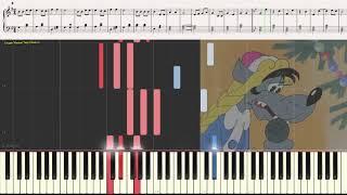 Расскажи, Снегурочка, как дела? (фрагмент) (Ноты и Видеоурок для фортепиано) (piano cover)