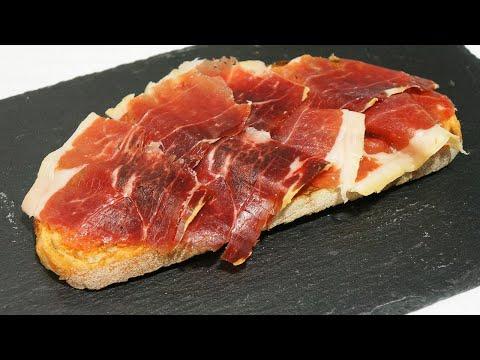 Tosta de jamón serrano a la catalana