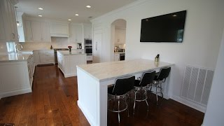 Design Build Transitional Style White Kitchen Home Remodel in San Clemente Orange County