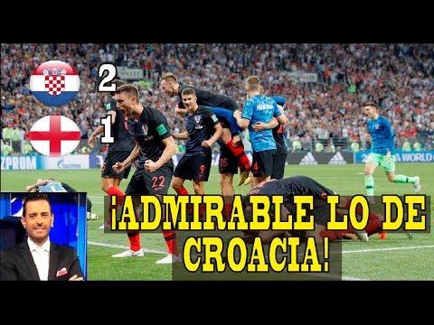RELATO EMOCIONANTE PABLO GIRALT   CROACIA 2 X 1 INGLATERRA   COMENTARIOS DE VARSKY