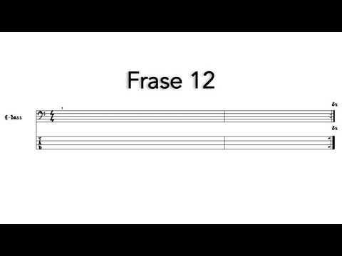 Frases cortas - Frase 12 - Sacar nota por nota - Bajo eléctrico - carloslaiz.com