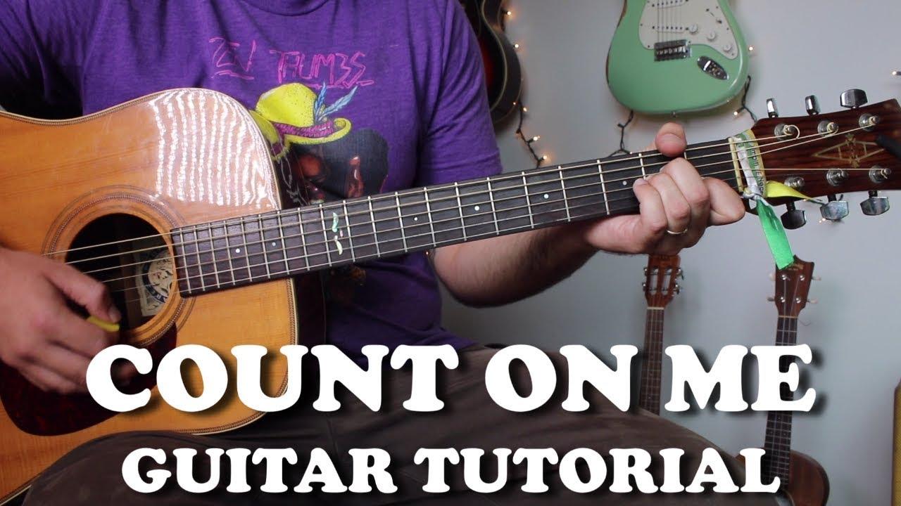 Count On Me – Bruno Mars – Super Easy Beginner Guitar Tutorial