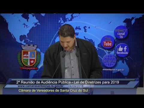 2ª Reunião de Audiência Pública - 06/09/2018