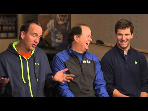 minutes - The Manning brothers are so close that they actually share a room at Duke Football Coach David Cutcliffe's house when they do their annual training sessions. See correspondent Jack Ford's...