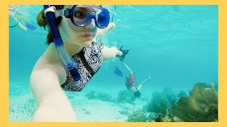 INSANE day of snorkel in the Belize Barrier Reef! We stayed at the Jaguar reef lodge on Almond Beach in Hopkins, Belize! Also, travel Q&A! Use my Ef College ...