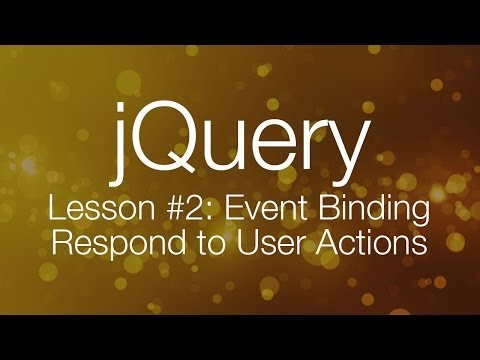 Event Binding - jQuery Tutorial for Beginners