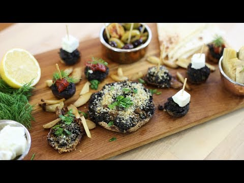 Stuffed Mushrooms Platter - French Vegetarian Recipe