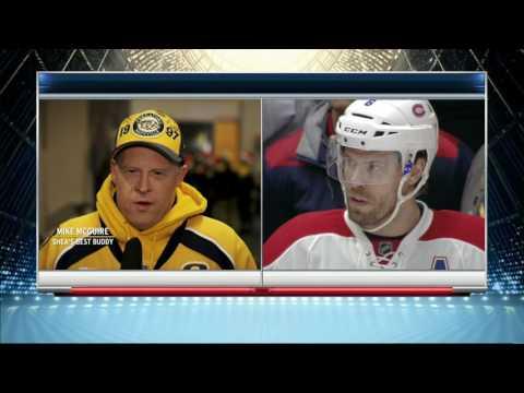 Video: Predators & fans honour Weber in return to Nashville