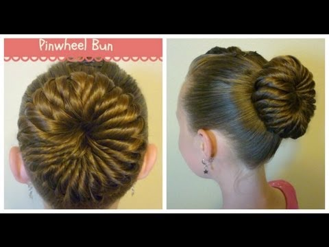 hairstyle - This hair tutorial shows how to create a cute bun for dance, gymnastics, ballet, etc. Please visit our site for more hairstyle ideas: http://princesshairstyl...