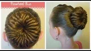 Pinwheel Bun Hairstyle