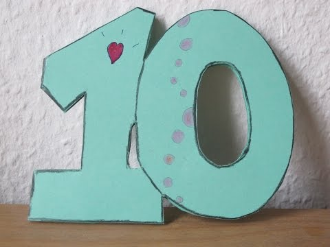 Einladung zum 10. Geburtstag selber basteln