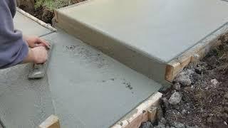 Video How to pour concrete steps /wet face concrete steps MP3, 3GP, MP4, WEBM, AVI, FLV Agustus 2018