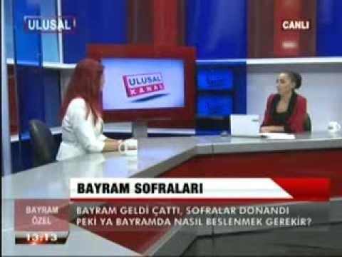 Diyetisyen ve Yaşam Koçu Gizem ŞEBER, Ulusal Kanal'ın bayram özel programına konuk oldu.