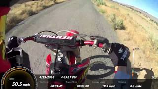 10. 2006 crf250r Top Speed with GPS Overlay