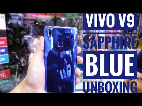 Vivo V9 Sapphire Blue limited edition UnBoxing