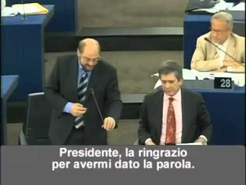 figuraccia di silvio berlusconi al parlamento europeo