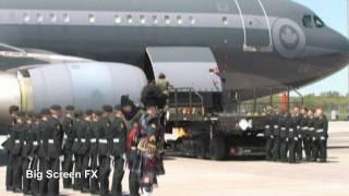 Trenton (ON) Canada  City pictures : Canadian Repatriation Ceremony / Highway of Heroes Canada