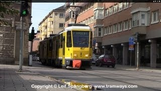 Norrkoping Sweden  City pictures : Trams in Norrköping, Sweden, part 1, Tatra trams