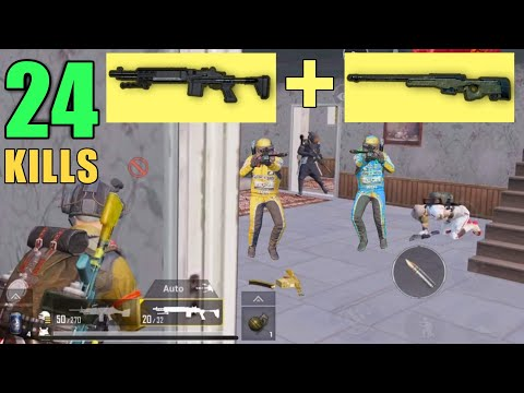 FULL AUTO MK14 + AWM OP | 24 KILLS SOLO VS SQUAD | PUBG MOBILE