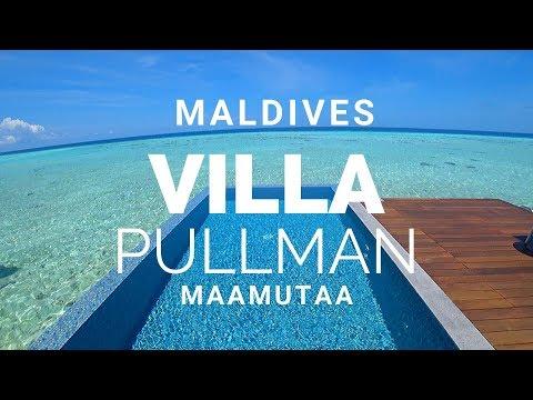 MALDIVES LUXURY RESORT Over The Water Villa Review : PULLMAN MAAMUTAA