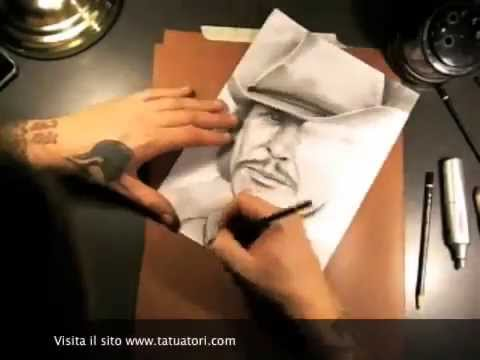*Speed Drawing Charles Bronson  by Luke Red Tattoo*