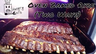 Oven Baked Ribs (Two Ways) Ingredients Baby back Ribs - 2 Racks Mustard BBQ Sauce Honey Garlic Sauce Dry Rub 1/2 cup Brown sugar 1 tsp Chilli Powder ...