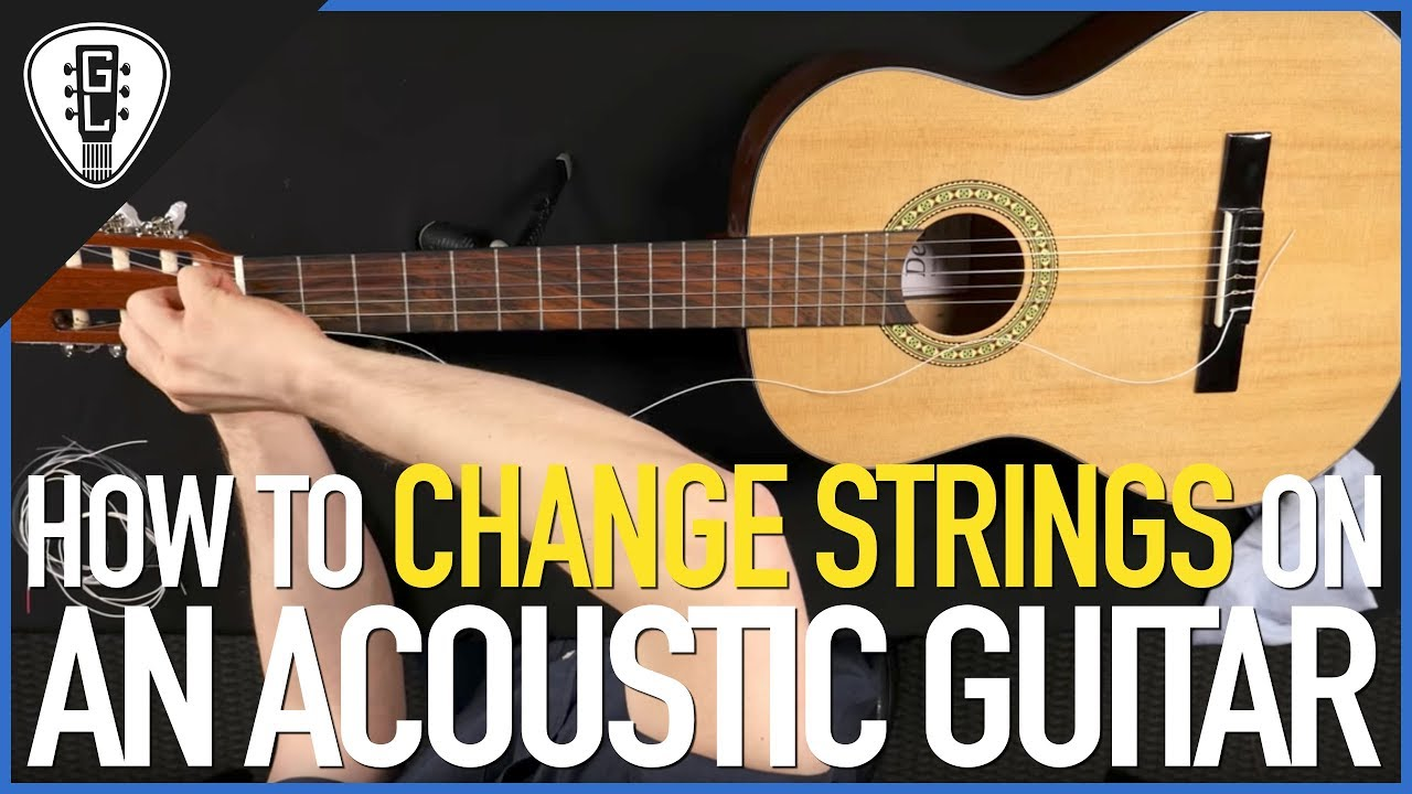 How To Change Strings On An Acoustic Guitar (Steel & Nylon) – Guitar Lesson