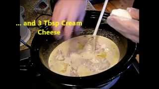 Simple as it gets for busy days. Easy recipe. Give it a go! Crock pot meals...gotta love 'em!