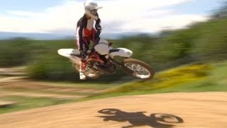 1. Riding on the 2013 Husqvarna CR125