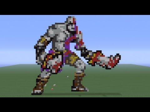 Christmas Pixel Art Minecraft Minecraft Pixel Art Kratos