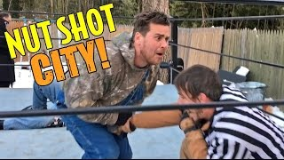 FUNNIEST NUT SHOT EVER! ROYAL RUMBLE HYPE GONE WRONG!