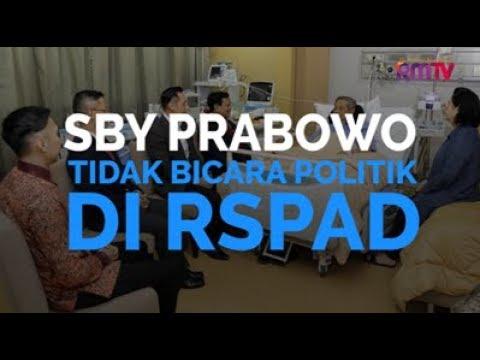 SBY Prabowo Tidak Bicara Politik Di RSPAD