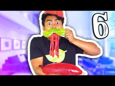 GUMMY VS REAL FOOD 6!!! (видео)