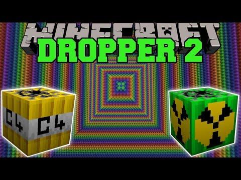 MORE EXPLOSIVES MOD VS THE DROPPER 2 - Minecraft Mods Vs Maps (Intense Explosives!)