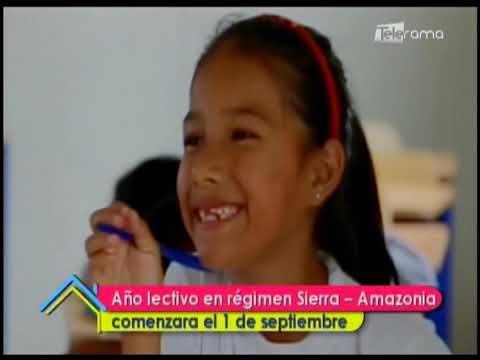 Año lectivo en régimen Sierra - Amazonía comenzará el 1 de septiembre