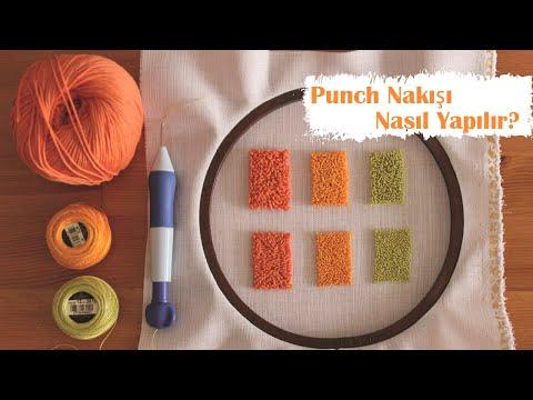 Punch Nakışı Nasıl Yapılır? / How To Use Punch Needle?