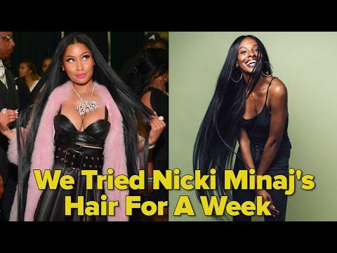 We Tried Nicki Minaj's Hair For A Week (видео)