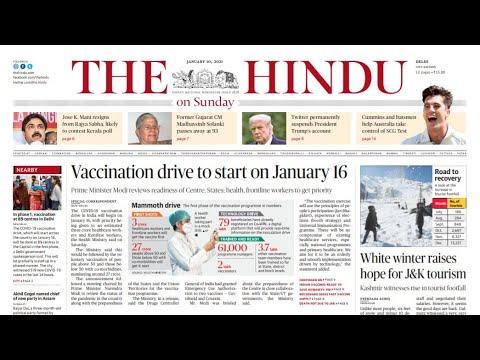 10 January 2021 | The Hindu Newspaper Analysis | Current affairs 2020 #UPSC #IAS #Todays The Hindu