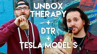 UnboxTherapy + Drunk Tech Review + Tesla Model S 85